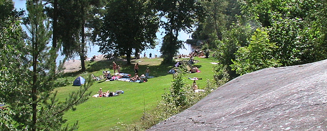 Fra Fjeld badeplass, Tussetjern Oppegård kommune.