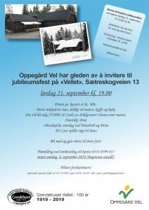 Invitasjon Grendehuset 100 år 2019